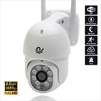 Camera Wifi Quan Sát Ngoài Trời Chống Nước, Kết Nối Wifi Độ Phân Giải 2.0Mpx FULL HD 1920x1080, Xoay 360 Độ Model CC8021 PRO Dùng Ứng Dụng CARECAM RPO Nâng Cấp - Chính Hãng