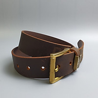 [Da thật] Thắt lưng da bò sáp 1 lớp khóa kim đồng BL104 - 38mm; 100% da bò thật, BH 3 năm