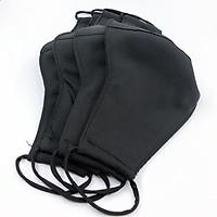Set 5 Khẩu trang vải đen - kate lụa Cool Ngầu
