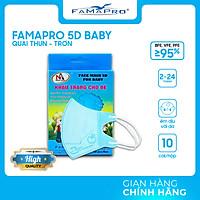 [HỘP - FAMAPRO 5D BABY] - khẩu trang y tế trẻ em kháng khuẩn 3 lớp Famapro 5D Baby (10 cái/ hộp) - 1 HỘP