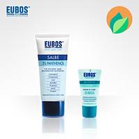 Combo Kem ngừa nứt nẻ chân tay EUBOS Panthenol 5% 75ml + kem dưỡng da tay EUBOS 25ml