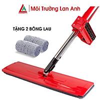 Cây Lau Nhà Tự Vắt Kitimop-Red Hàng Chính Hãng Cao Cấp, Tặng Kèm 2 Bông Lau