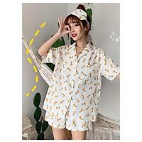 Đồ bộ nữ cộc tay pijama bộ mặc nhà dễ thương NL111