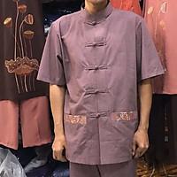 Đồ đi chùa cho nam vải xô (tixi) hàn, đồ bộ nam cao cấp, thời trang nam