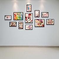 Bộ Khung Hình Kính Treo Tường Trang Trí Tiệm Nail Làm Đẹp Tặng Kèm bộ ảnh như hình, đinh treo tranh và sơ đồ treo - PGC214