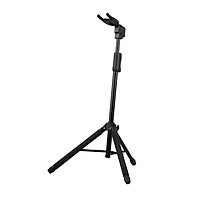 Collapsible Tripod Guitar Stand Music Instrument Stand Self-Lock Guitar Bracket by Gravity Mechanism with Self-Adapting