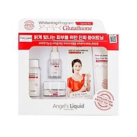 Bộ Kit 4 Sản Phẩm Dưỡng Trắng Da, Làm Mờ Thâm Angel's Liquid Whitening Program Glutathione Special Kit