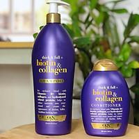 Bộ gội xả Biotin Collagen Mỹ (Chai Gội 750ml + Chai Xả 385ml)