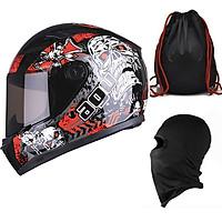 Mũ Bảo Hiểm Đẹp Fullface AGU Tem 53 + Khăn Ninja + Tặng kèm túi đựng nón chống trầy_ Nón Fullface nhiều màu
