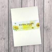 Giấy vẽ màu nước cao cấp A4 - màu kem lên màu tuyệt vời (10 tờ/túi)