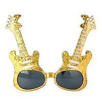 Prettyia Unisex Shiny Gold Violin Music Instrument Sunglasses Party Glasses
