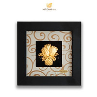 Tranh giỏ hoa tulip dát vàng (13x13cm) MT Gold Art- Hàng chính hãng, trang trí nhà cửa, phòng làm việc, quà tặng sếp, đối tác, khách hàng, tân gia, khai trương