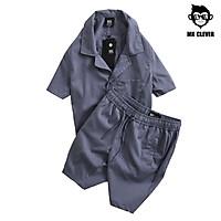 Bộ quần áo nam mùa hè MK CLEVER chất cotton co giãn, mát, thấm mồ hôi tốt