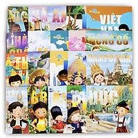 Trọn bộ 20 cuốn Vòng quanh thế giới: Ai Cập - Anh - Nigeria - Brazil - Đức - Hà Lan - Mỹ - Tây Ban Nha - Pháp - Ý - Ấn Độ - Trung Quốc - Hàng quốc - Mông Cổ - Nhật Bản - Việt Nam - Thái Lan - Campuchia - Nga - Úc