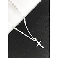 Dây chuyền bạc mặt thánh giá  - Ngọc Quý Gemstones