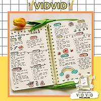 Sổ lò xo kép B5- ruột chấm Dot Grid 200tr 115/76;Thích hợp làm bullet journal Klong MS: 960 ( Nhiều màu )