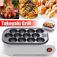 220V 500W 12 Holes Household Electric Takoyaki Grill Pan Home Octopus Meat Ball Maker Plate Machine