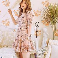 Đầm thiết kế hồng hoạ tiết hoa Orchic Dress Gem Clothing SP006150