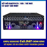 Amply Bluetooth USB biến áp đồng 16 sò lớn Cali.D&Y PRO 7200D - Hàng chính hãng