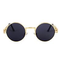 Gothic Steampunk Sunglasses Men Women Round Shades Sun Glasses UV400 Mirror Lens Eyeglasses