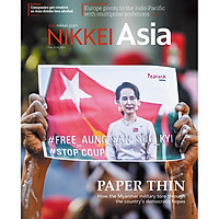Nikkei Asian Review: Nikkei Asia - 2021: PAPER THIN - 6.20, tạp chí kinh tế nước ngoài, nhập khẩu từ Singapore