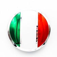 Sticker metal dán mâm xe hơi tròn 5.5cm - Cờ Ý