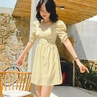 Đầm vàng nhạt hoa nhí Gigi Dress Gem Clothing SP006168