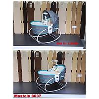 Nôi rung kiêm ghế bập bênh 5 trong 1 Mastela 6037 (Xanh Pastel)