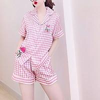 Đồ Bộ Lụa/Hàn/Satin Pijama Đùi Mặc Ở Nhà Nữ - Bộ Ngủ Nữ Tiểu Thư Cộc Tay Mặc Mùa Hè, Nhiều Mẫu Dễ Thương