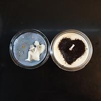 Combo 2 Nến thơm tinh dầu: Cà phê (coffee candle) và gỗ Đàn hương 100g - Giúp thơm phòng, thư giãn giảm stress với thành phần hoàn toàn tự nhiên