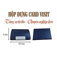Hộp Đựng Card Visit Cao Cấp, Sang Trọng, Màu Xanh Vân Nổi, Không Đụng Hàng