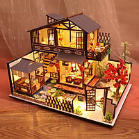 Mô hình nhà DIY Doll House Japanese Forest Valley Kèm Mica Chống bụi