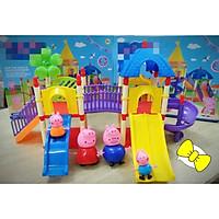 Bộ lắp ráp, xếp hình tổ hợp công viên giải trí Peppa Pig (mẫu ngẫu nhiên)