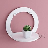 2 bộ Kệ tròn gắn tường , trang trí để đồ dùng tiện lợi không cần khoan