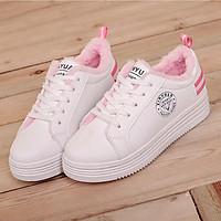 Giày thể thao nữ hồng dễ thương - Trắng hồng - 38