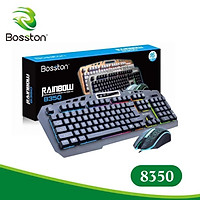 Combo phím chuột giả cơ Boston 8350- HÀNG NHẬP KHẨU