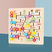 Đồ Chơi Gỗ Bảng Chữ Số Tiếng Anh, Đồ Chơi Giúp Bé Phát Triển Trí Não Giáo Dục Theo Phương Pháp Montessori - Tặng Kèm 01 Tranh Ghép Bằng Gỗ - Bảng Số
