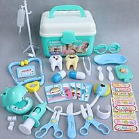Đồ chơi bác sĩ trẻ em, gồm hộp y tế y tá, tiêm ống nghe dụng cụ trẻ em