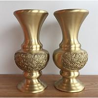 đôi lọ hoa đồng vàng nguyên chất cao 30cm
