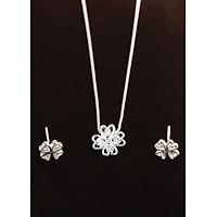 Bộ trang sức bạc đẹp cỏ 4 lá may mắn TSB0006
