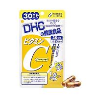 Viên uống vitamin C DHC Vitamin C Hard Capsule hỗ trợ tăng cường đề kháng, tăng tạo collagen, giảm thâm nám, giảm mụn và làm đẹp da