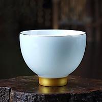 Chén uống trà men ngọc – màu xanh ngọc
