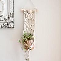 1 dây tết macrame treo tường trang trí treo chậu cây cảnh ấn tượng