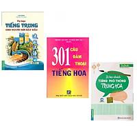 3 cuốn Tự Học Tiếng Trung Cho Người Mới Bắt Đầu+ Tự Học Nhanh Tiếng Phổ Thông Trung Hoa+ 301 Câu Đàm Thoại Tiếng Hoa Tặng Video Học 100 câu Tiếng Hoa giao tiếp thông dụng Nhất
