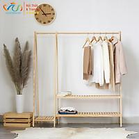 Giá kệ gỗ chữ A đôi treo quần áo, đồ decor trang trí nội thất, nhà cửa phong cách vintage - VUADECOR