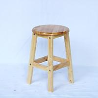 Ghế ngồi gỗ mặt tròn tháo ráp