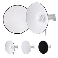 22 Inch Beauty Dish Studio Photography Reflector Diffuser with Honeycomb Soft Cloth for Bowens Mount Speedlite Strobe