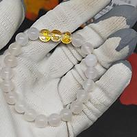 Vòng tam hợp hợi mão mùi mã não trắng TH009 - Vòng tay tam hợp quý nhân - Vòng tay tam hợp bằng đá cho người tuổi hợi mão mùi - Bảo hành 12 tháng - Vận chuyển toàn quốc - Nhận hàng thanh toán