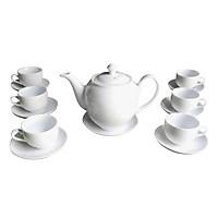 Bộ ấm chén Minh Long 3 chính hãng gốm sứ Bát Tràng (bộ bình uống trà, bình trà)