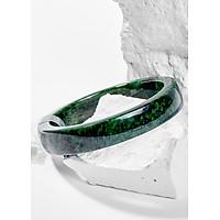 Vòng Tay Phong Thủy Nữ Đá Cẩm Thạch Sơn Thủy Nguyên Khối (53mm) Mệnh Mộc, Hỏa Ngọc Quý Gemstones